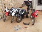 Polícia Militar recupera quatro motocicletas roubadas, em Altamira