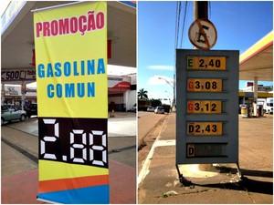 Alguns postos de combustíveis, em Porto Velho, reajustaram o valor da gasolina. Outros ainda mantém o preço antigo. (Foto: Larissa Matarésio/G1)