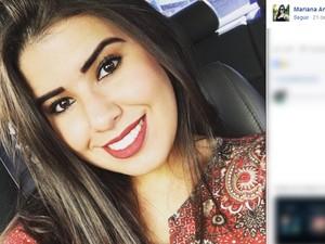 A estudante de direito Mariana Angélica, morta a tiros em festa universitária de São José dos Campos (Foto: Reprodução/Facebook)