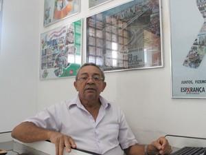 Valdir Nogueira não aprovava a ideia da esposa trabalhar com aidéticos  (Foto: Gilcilene Araújo/G1)