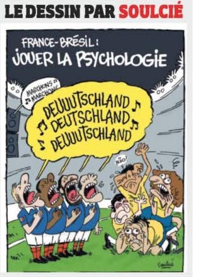 Charge Brasil França Alemanha