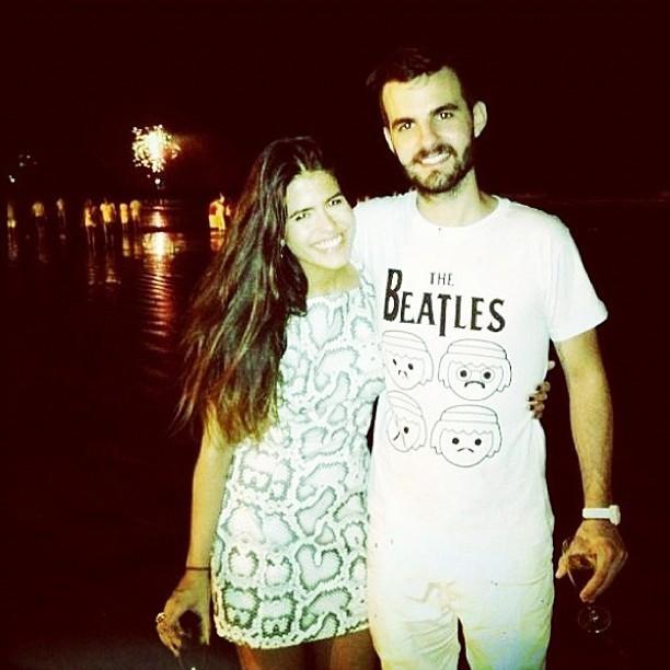 Antonia Morais e o namorado no reveillon (Foto: Reprodução/ Instagram)