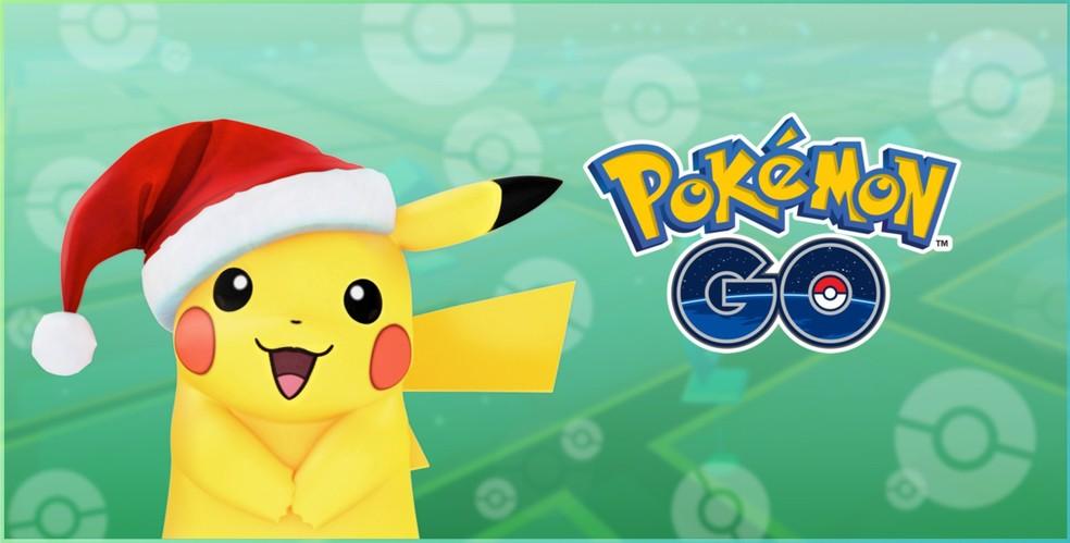 Pikachu natalino será encontrado no final de ano em 'Pokémon Go' (Foto: Divulgação/Niantic)