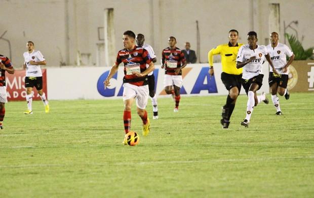 Campinense 0 x 0 Sport, no Estádio Amigão (quartas de final da Copa do Nordeste) (Foto: Magnus Menezes / Jornal da Paraíba)