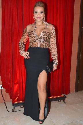 Geisy Arruda em show em São Paulo (Foto: Caio Duran/ Ag. News)