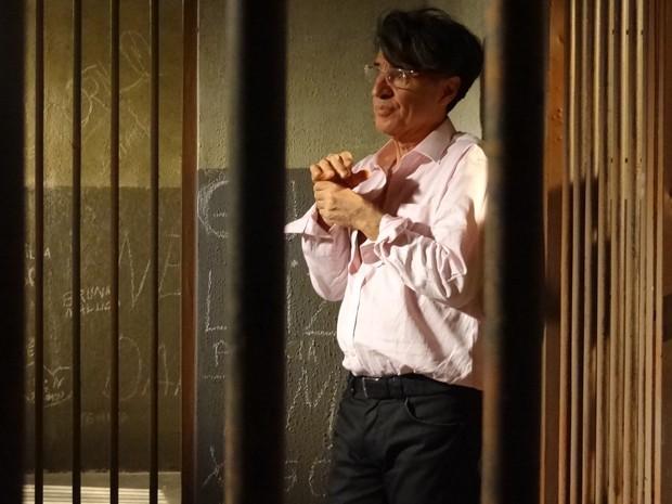Téo Pereira é preso (Foto: Paula Paiva / Gshow)