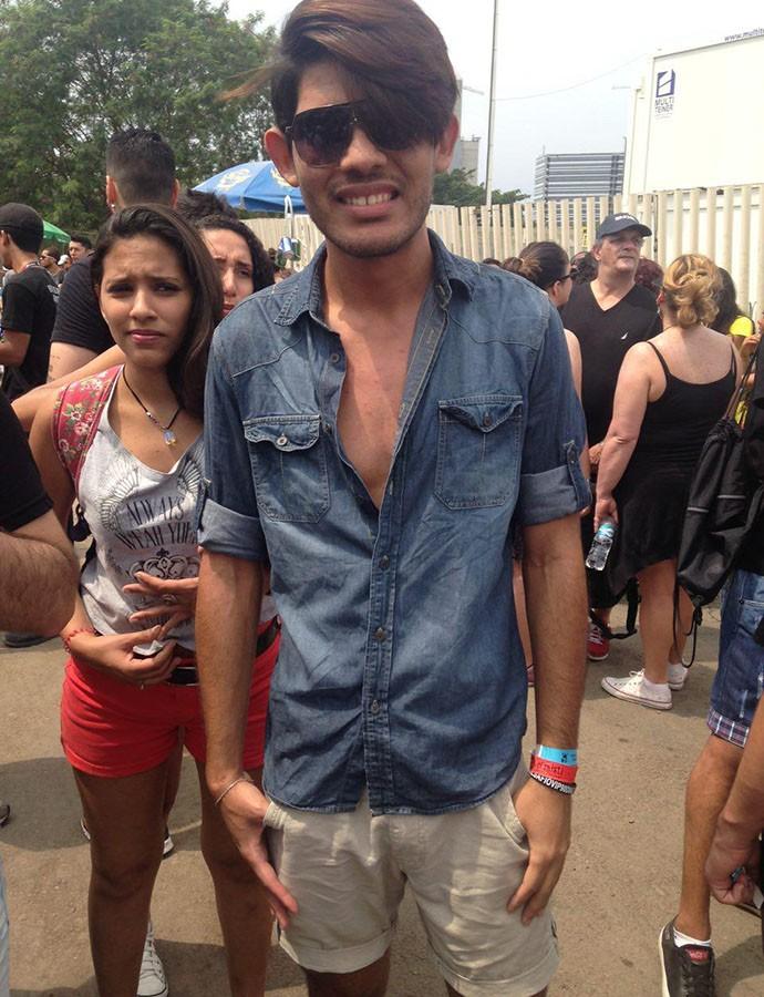 """Jonatan Moura garante que fez o cabelo em cinco minutos: """"Só lavei e sequei"""" (Foto: Gshow)"""