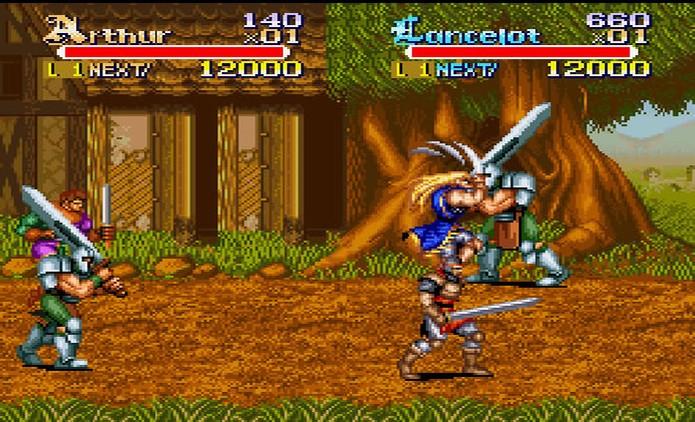 Rei Arthur e seus amigos em um jogo dificílimo feito pela Capcom (Foto: Reprodução)