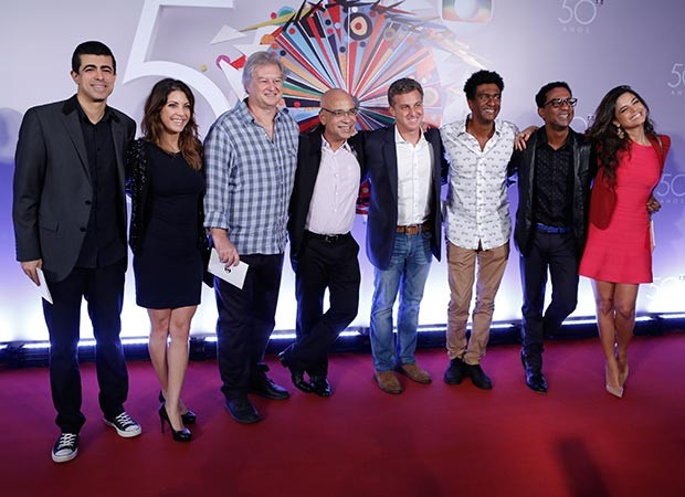 Luciano Huck e grande elenco da Rede Globo se reúne (Foto: Fábio Rocha/Gshow)
