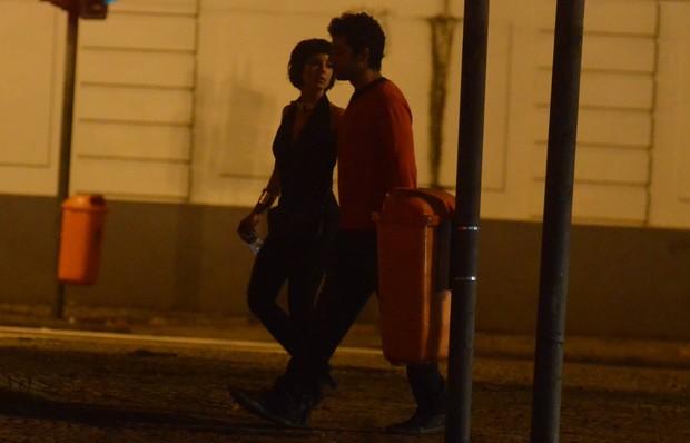 Andréia Horta e Gustavo Machado no Rio (Foto: WEBERT BELIZIO/Agnews)