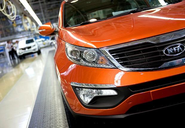 Fábrica da montadora Kia Motors (Foto: Divulgação)