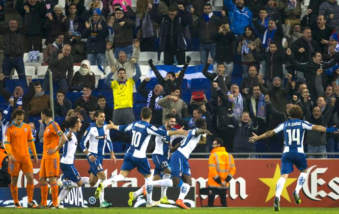 Felipe Caicedo Espanyol Valencia (Foto: EFE)