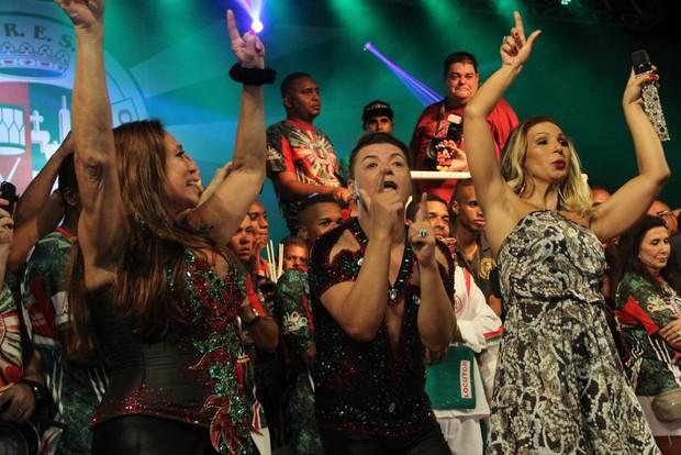 Susana Vieira, Valesca Popozuda e David Brazil (Foto: Rodrigo dos Anjos / AgNews)