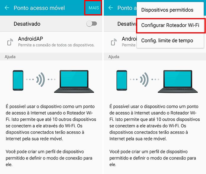 Configure a função roteador no Note 5 (Foto: Reprodução/Paulo Alves)
