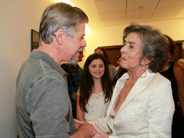 José Mayer e Betty Faria em peça de teatro na Zona Oeste do Rio (Foto: Graça Paes/ Brazil News)