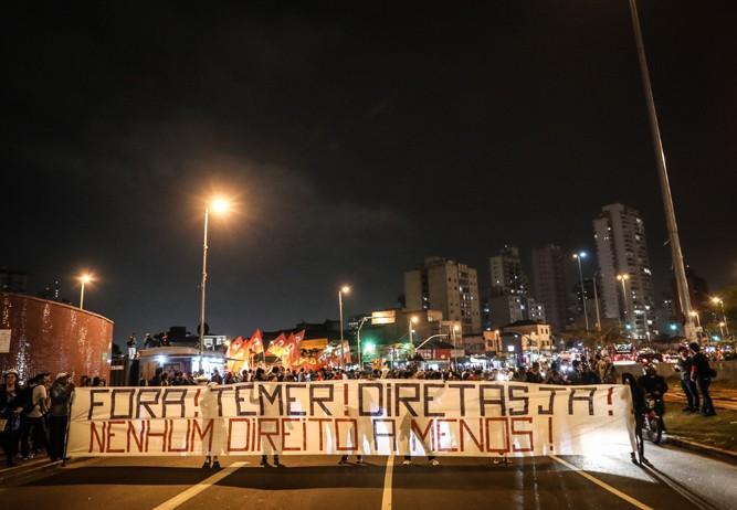 Manifestação contra Michel Temer em São paulo. (Foto: Ricardo Nogueira/ Epoca)