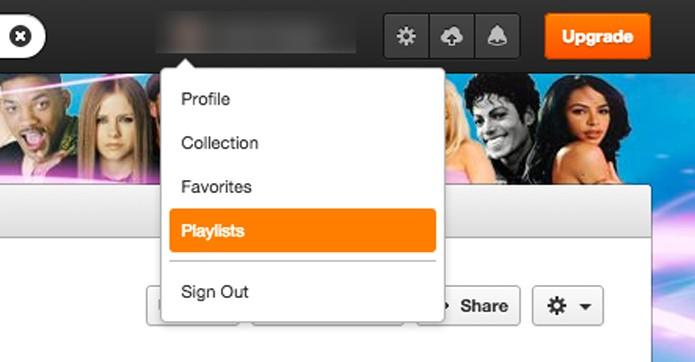 Acessando as playlists criadas (Foto: Reprodução/André Sugai)