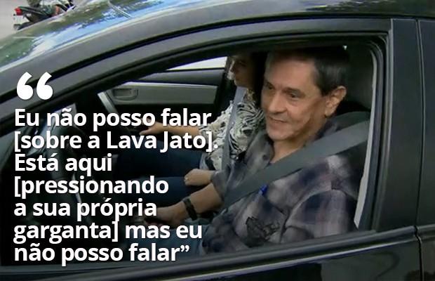 Roberto Jefferson diz que não pode falar sobre a Lava Jato (Foto: Reprodução / Globo)