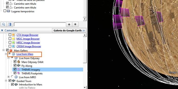 Ferramenta permite visualizar imagens registradas recentemente pela NASA (Foto: Reprodução/Barbara Mannara)