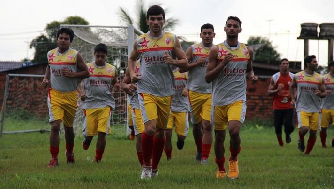 Rio Branco-AC inicia treinos para temporada 2015 no José de Melo (Foto: João Paulo Maia)