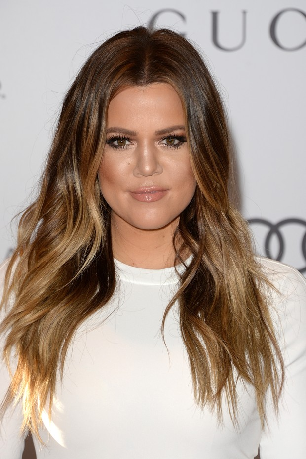 Khloe Kardashian no TV personality Khloe Kardashian noThe Hollywood Reporter's 22nd Annual Women In Entertainment Breakfast, no Beverly Hills Hotel (Foto: AFP)