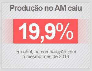 A produção no Amazonas caiu 19,9% em abril de 2015 (Foto: G1)