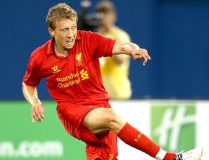 Lucas na partida do Liverpool  (Foto: Getty Images)