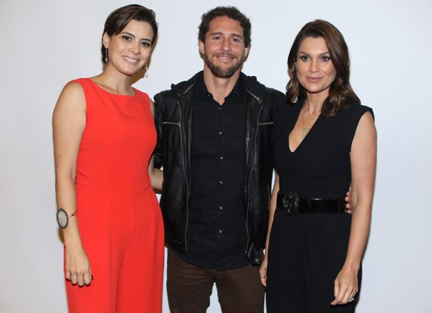 Michelle Loreto, Flávio Canto e Flávia Alessandra (Foto: Thiago Duran/AgNews)