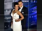 Naldo e Moranguinho vão elegantes a baile beneficente nos EUA
