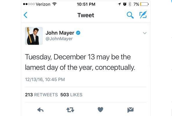 Tweet de John Mayer alfineta a ex, Taylor Swift (Foto: Reprodução)