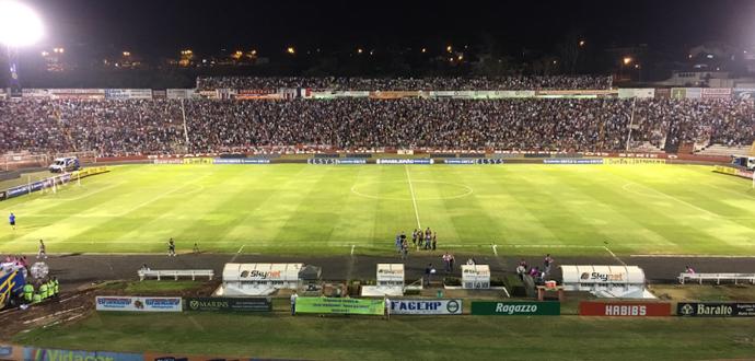 Estádio Santa Cruz Botafogo-SP x ABC (Foto: Cleber Akamine)