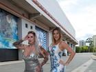 Sabrina Boing Boing e Vanessa Alcântara visitam Fábrica do Samba