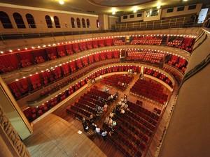 Teatro Coliseu, em Santos, começa a ser reformado (Foto: Divulgação / Prefeitura de Santos)