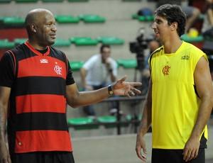 Ron Harper camisa Flamengo basquete (Foto: Alexandre Vidal / Flaimagem)