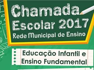 Inscrições abertas para chamada escolar 2017, em Pinheiral (Foto: Arte Divulgação/Prefeitura de Pinheiral)