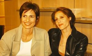 "Leila (Silvia Pfeifer) e Rafaela (Christiane Torloni) em ""Torre de Babel"""