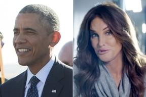 Barack Obama e Caitlyn Jenner (Foto: AFP | Facebook)