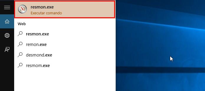 Abra o Monitor de Recursos do Windows (Foto: Reprodução/Paulo Alves)
