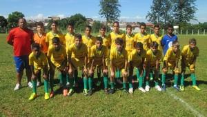 Time de Dracena sub-14 na 2ª Copa Internacional de Futebol da Estância Turística de Avaré (Foto: WM Show de Bola / Divulgação)