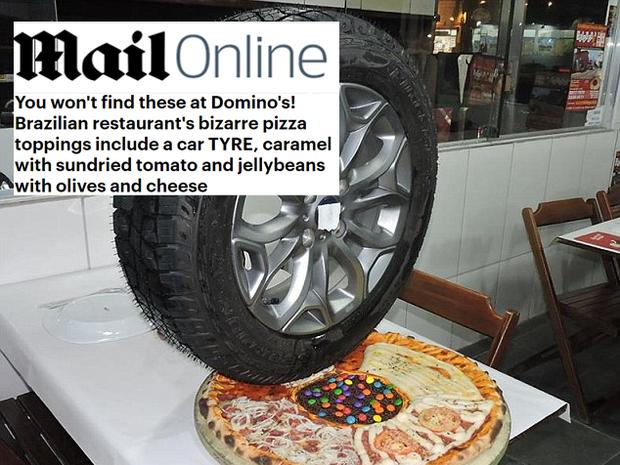 Pizzaria Bate Papo no Daily Mail (Foto: Reprodução)