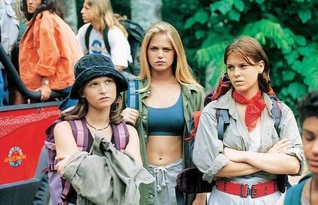 Fernanda Rodrigues (Luiza), Susana Werner (Mariana) e Carolina Dieckmann (July) em cena da temporada que foi ao ar em 1995 Reprodução da internet