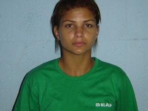 Seap divulgou foto de Danúbia Souza com uniforme da presidiária (Foto: Divulgação Seap)