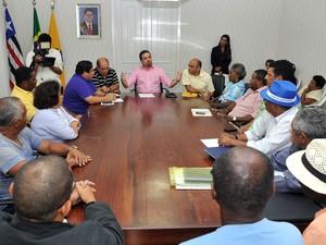 Reunião com líderes foi realizada na Prefeitura de São Luís (Foto: Divulgação/Prefeitura de São Luís)