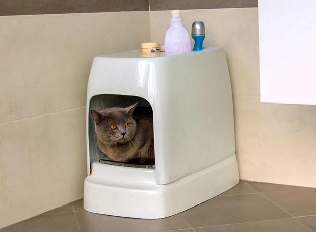 Catolet: conheça o vaso sanitário para gatos que limpa tudo por você (Foto: Reprodução)