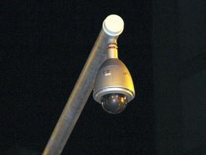 Câmera de monitoramento em São José dos Campos (Foto: Carlos Santos/G1)