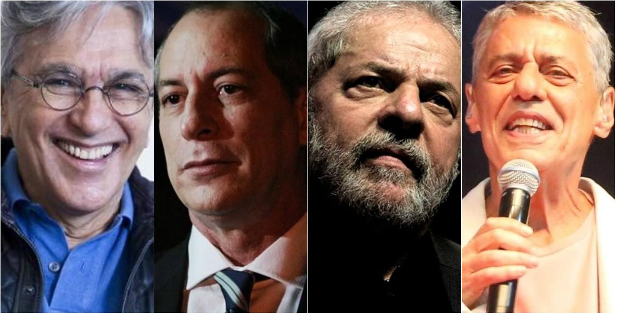 Caetano Veloso, Ciro Gomes, Lula e Chico Buarque