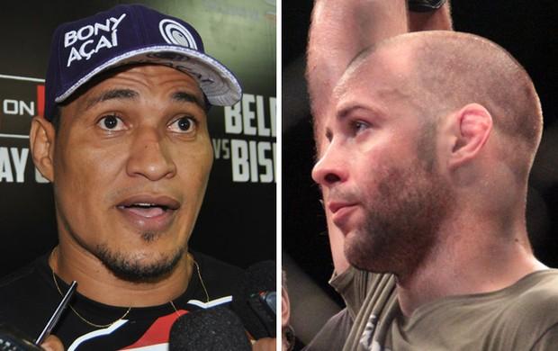 montagem Ildemar Marajó e Kenny Robertson MMA (Foto: Arte / Globoesporte)