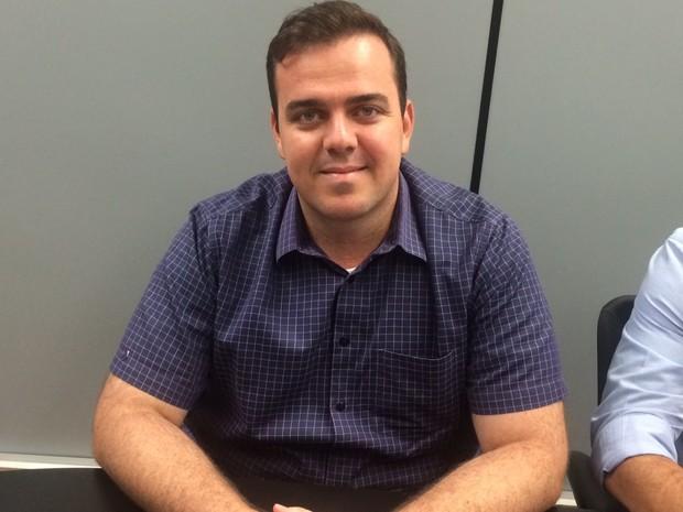 Gustavo Mendanha (PMDB), candidato à Prefeitura de Aparecida de Goiânia, Goiás (Foto: Sílvio Túlio/G1)