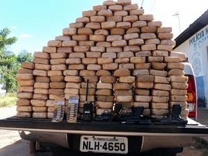 Parte da quadrilha foi presa antes da operação com apreensões de droga em Mato Grosso. (Foto: Divulgação/PF-MT)