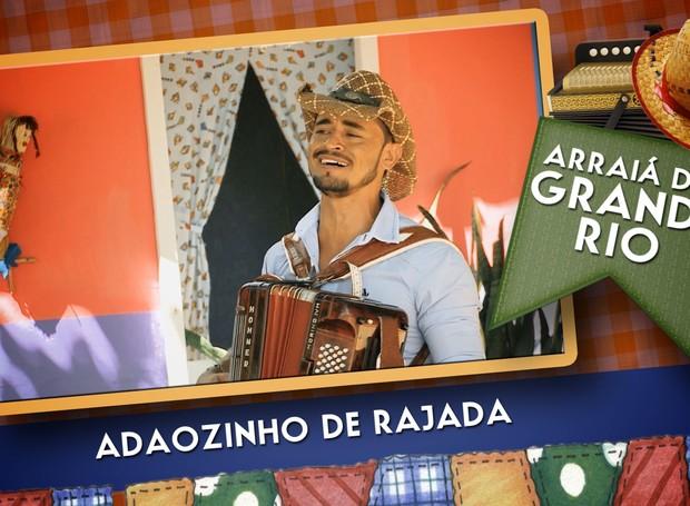 Adãozinho de Rajada é atração do Arraiá do Grande Rio no dia 19 de junho (Foto: Reprodução/TV Grande Rio)